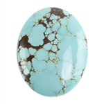 Turquoise Gemstone - Cabochon Oval 19mm x 24.5mm - Pkg/1