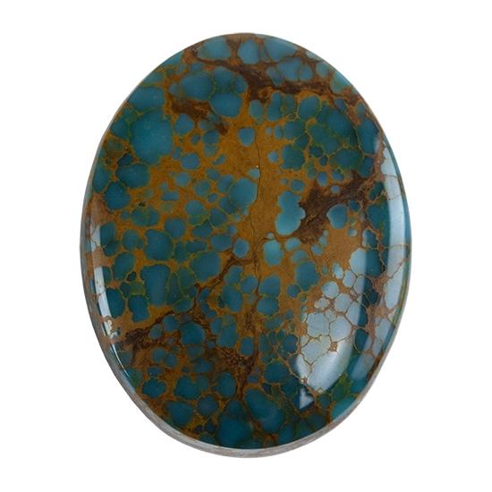 PM206 Pilot Mountain Turquoise Cabochon Natural 33.5 Carat Cab Stone Untreated Gemstone Gems