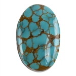Pilot Mountain Turquoise Gemstone - Cabochon Oval 19mm x 29.5mm - Pkg/1