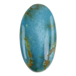 Pilot Mountain Turquoise Gemstone - Cabochon Oval 20mm x 37.5mm - Pkg/1