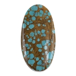 Pilot Mountain Turquoise Gemstone - Cabochon Oval 19.5mm x 37.5mm - Pkg/1