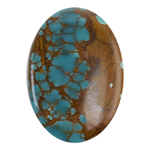 Pilot Mountain Turquoise Gemstone - Cabochon Oval 22.5mm x 32mm - Pkg/1