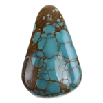 Pilot Mountain Turquoise Gemstone - Cabochon Freeform 21mm x 32.5mm - Pkg/1