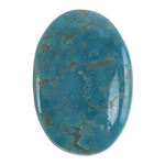 Pilot Mountain Turquoise Gemstone - Cabochon Oval 23mm x 34mm - Pkg/1