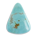 Pilot Mountain Turquoise Gemstone - Cabochon Freeform 20.5mm x 26.5mm - Pkg/1