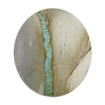 Royston Ribbon Turquoise Gemstone - Cabochon Oval 22.5mm x 26.5mm - Pkg/1