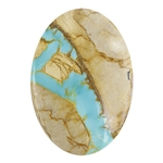 Royston Ribbon Turquoise Gemstone - Cabochon Oval 19mm x 27.5mm - Pkg/1