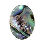 Blue Paua Abalone Shell Gemstone - Cabochon Oval 13x18mm - Pak of 2