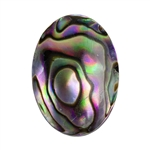 Blue Paua Abalone Shell Gemstone - Cabochon Oval 18x25mm