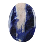 Natural Sodalite Gemstone - Cabochon Oval 44mm x 62mm Pkg - 1