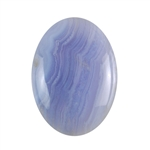 Natural Blue Lace Agate Gemstone - Cabochon Oval 30x40mm - Pak of 1