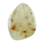 Golden Rutilated Quartz Gemstone - Freeform Cabochon 27mm x 35mm Pkg - 1