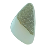 Druzy Quartz in Agate Gemstone - Freeform 21mm x 35mm Pkg - 1