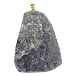 Natural Druzy Gemstone - Freeform Pendant 43mm x 57mm - Pak of 1