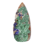 Natural Azurite Druzy Gemstone - Teardrop Cabochon 14.5mm x 32mm