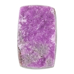 Natural Cobalto Calcite Druzy Gemstone - Rectangle Cabochon 19mm x 31mm