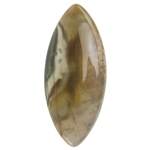 Polychrome Jasper Gemstone -  Freeform Cabochon 18mm x 41mm