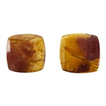 Red Creek Jasper Gemstone - Square Cabochon 11mm x 11mm - Matched Pair