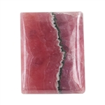 Rhodocrosite Gemstone - Cabochon Rectangle 19mm x 24.5mm