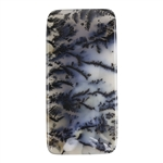Natural Dendritic Agate Gemstone - Cabochon Rectangle 30mm x 60.5mm