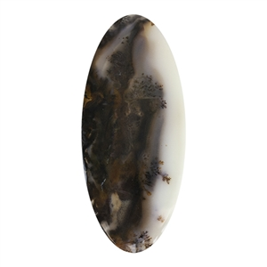 Natural Dendritic Agate Gemstone - Cabochon Oval 32mm x 72.5mm