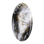 Natural Dendritic Agate Gemstone - Cabochon Oval 34mm x 63.5mm
