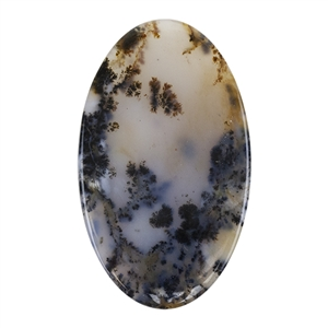 Natural Dendritic Agate Gemstone - Cabochon 34mm x 58mm
