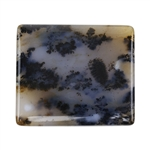 Natural Dendritic Agate Gemstone - Cabochon Rectangle 38.5mm x 44.5mm
