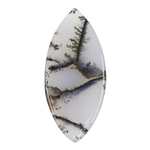 Natural Dendritic Agate Gemstone - Cabochon Freeform 20mm x 43mm