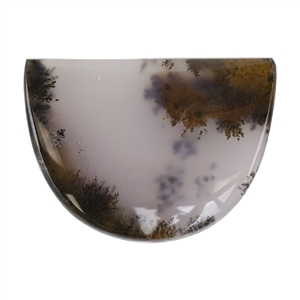 Natural Dendritic Agate Gemstone - Cabochon Freeform 31mm x 42mm