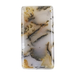 Natural Dendritic Agate Gemstone - Cabochon Rectangle 14mm x 27mm
