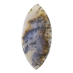 Natural Dendritic Agate Gemstone - Cabochon Freeform 21.5mm x 47mm