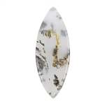Natural Dendritic Agate Gemstone - Cabochon Freeform 17mm x 45mm