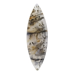 Natural Dendritic Agate Gemstone - Cabochon Freeform 14.5mm x 46mm