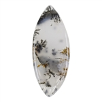 Natural Dendritic Agate Gemstone - Cabochon Freeform 15mm x 37mm