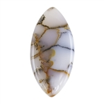Natural Dendritic Agate Gemstone - Cabochon Freeform 15.5mm x 32mm