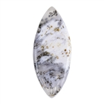 Natural Dendritic Agate Gemstone - Cabochon Freeform 17.5mm x 42.5mm