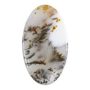 Natural Dendritic Agate Gemstone - Cabochon Oval 21.5mm x 37mm