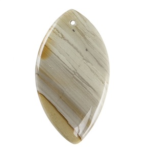 Cripple Creek Picture Jasper Gemstone - Defective Stone - Freeform Pendant 32mm x 59mm