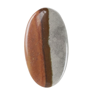 Polychrome Jasper Gemstone - Defective Stone - Oval Pendant 16mm x 29mm