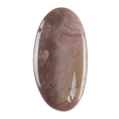 Polychrome Jasper Gemstone - Defective Stone - Oval Pendant 17mm x 32mm
