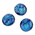 Dichroic Gems - Blue Aqua Crackle