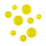 Colored Glass Cabochon - Yellow - Round