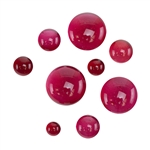 Colored Glass Cabochon - Red - Round