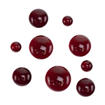 Colored Glass Cabochon - Dark Red - Round