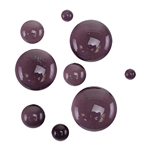Colored Glass Cabochon - Violet - Round