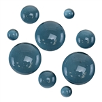 Colored Glass Cabochon - Sea Blue - Round