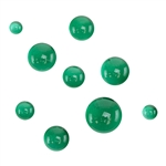 Colored Glass Cabochon - Emerald Green - Round