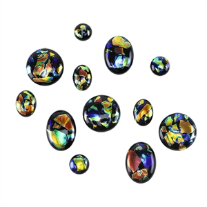 Dichroic Gems - Black Opalescent