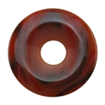 Glass Stone - Orange Pendant Round 38mm Pkg - 1